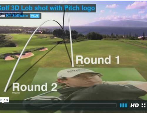 Golf 3D Lob shot with Pitch logo