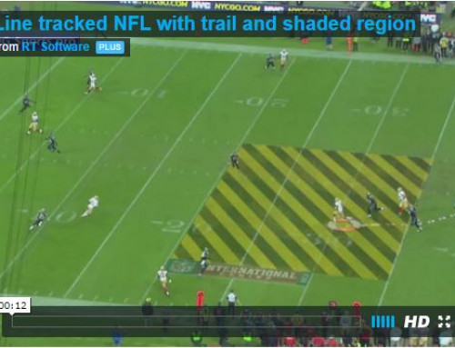 Line tracked NFL with trail and shaded region