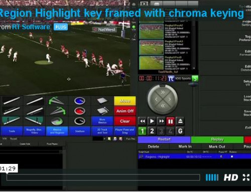 User Tip:- Region Highlight key framed with chroma keying